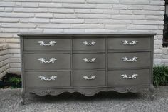 Painted dresser once more