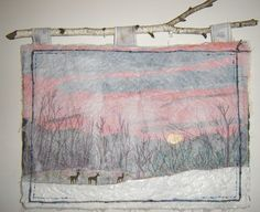 Small Winter  art quilt by SylvanQuilts on Etsy, $60.00