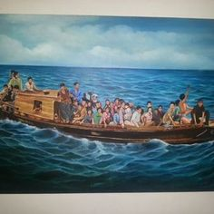 Boat People Drawing, Vietnamese refugee.