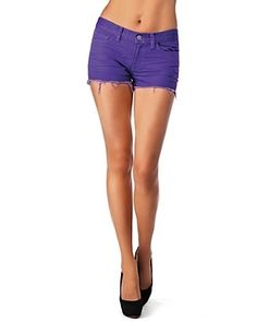 J Brand Cutoff Shorts in Bright Purple - Shorts - Bloomingdales.com - StyleSays