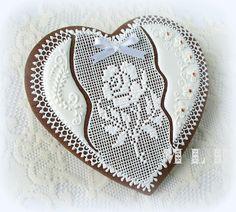 Моя маленькая пекарня :): печенье Кружева сердца