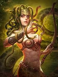 Gorgon-Medusa / Age Of Warring Empire Medusa Gorgon, Medusa Tattoo, Age Of Empires, Echidna, Beautiful Goddess, Card Games, Mythology, Tatoos, Princess Zelda