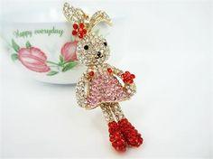 Fashion Rabbit Keyring Cute Swarovski Crystal Charm Pendant KEY BAG Chain Gift | eBay