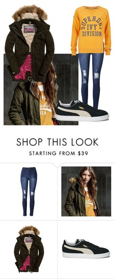 """The Cover Up – Jackets by Superdry: Contest Entry"" by aevanika14412 ❤ liked on Polyvore featuring Superdry and Puma"