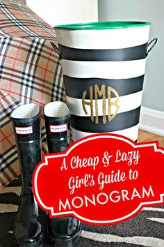 Southern State of Mind: Cheap & Lazy Girl's Guide: Monogram