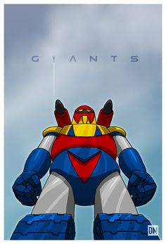 Giant - Poseidon by DanielMead on deviantART American Giant, Japanese American, Super Robot Taisen, Robot Cartoon, Alternative Comics, Cool Robots, Anime Toys, Robot Art, King Kong