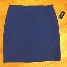 NWT Eloquii Blue skirt NWT Eqoulii blue skirt. Purchased on here but sadly doesn't fit  it's such a beautiful skirt and great quality. Has lining. True to size. Eloquii Skirts