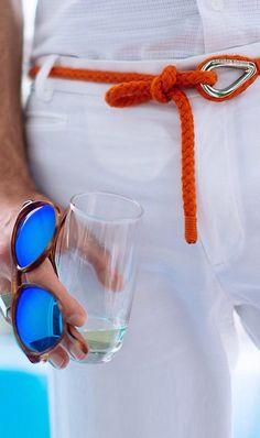 Orlebar Brown Rope Belt, Persol Eyewear for Men via Daniel @ Fashionising.com