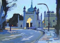 Brighton Pavilion North Gate at Dawn
