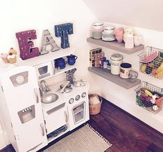 ideas for girls playroom my little girls farmhouse kitchen is finally complete shes spending a lot of girl playroom ideas pinterest