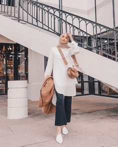 What are you up to today? I am going to the grocery store before my husband wakes up because we ran out of food, editing a video I filmed… Hijab Casual, Modest Fashion Hijab, Street Hijab Fashion, Hijab Chic, Fashion Outfits, Stylish Hijab, Iranian Women Fashion, Islamic Fashion, Muslim Fashion