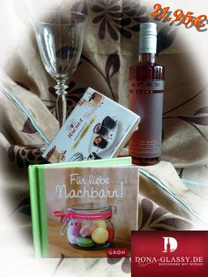 """Geschenkset """"Liebe Nachtbarn"""" mit Wein"""