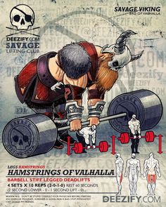 Hamstrings of Valhalla || Build Better Hams and Glutes #vikings #deadlifts #LegDay #valhalla #fitness #glutes