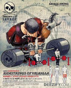 Hamstrings of Valhalla || Build Better Hams and Glutes #vikings #deadlifts #LegDay #valhalla #fitness #glutes
