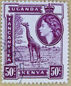 stamp Kenya Uganda Tanganyika Queen Elizabeth 5