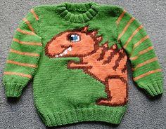 Ravelry: The Friendly Dino (Cute Dinosaur) pattern by Angela Davis Dinosaur Sweater, Cute Dinosaur, Knitting For Kids, Baby Knitting Patterns, Angela Davis, Dinosaur Pattern, Ravelry, Boy Or Girl, Men Sweater