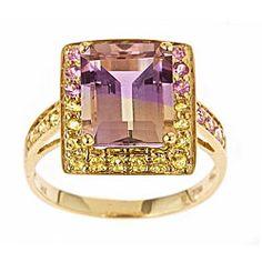 gold ametrine ring