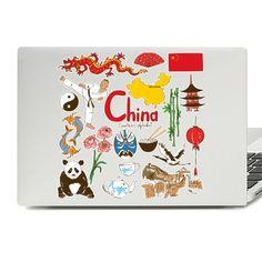 China Illustration Laptop Skin Sticker Laptop Stickers, Laptop Skin, Vinyl Decals, Illustration, China China, Illustrations