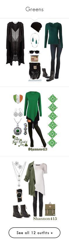 """Greens"" by shannon415 ❤ liked on Polyvore featuring Dolce Vita, Paige Denim, RAJ, Chicnova Fashion, Jigsaw, Belmondo, Armenta, DusterCoat, Carolina Glamour Collection and Festuvius"