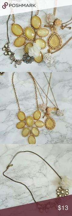 Gold Floral Necklaces Price is for all Jewelry Necklaces