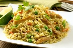 Peanut Chicken Fried Rice Recipe on Yummly. Peanut Chicken, Chicken Satay, Fried Chicken, Chicken Rice, Rice Recipes, Chicken Recipes, Delicious Recipes, Rice Side Dishes, Main Dishes