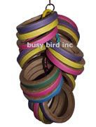 Bird toys for large busy birds that are unique and help keep your birds beak active and happy Diy Bird Toys, Bird Crafts, Diy Macaw Toys, Parrot Toys, Bird Tree, Cockatoo, Parrots, Bowie, Bagel