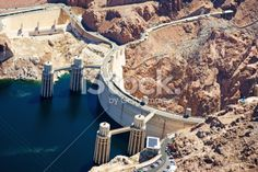 Hoover Dam from a helicopter Royalty Free Stock Photo