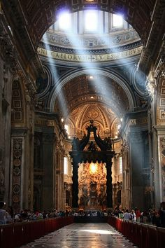 Saint Peter's Basilica in Vatican. One of the greatest architectural monument.