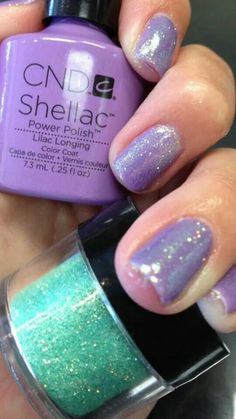 Lilac longing & seaglass additive/lecente mint irridescent
