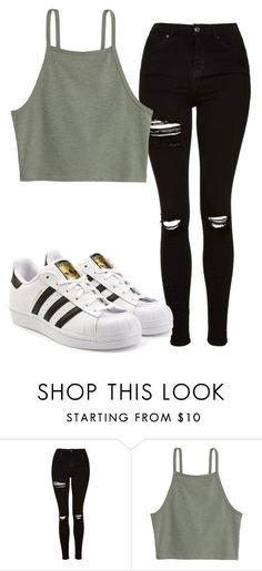 """Party"" by grraciie-386 on Polyvore featuring Topshop and adidas Originals"