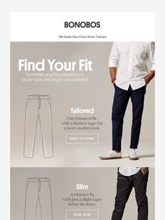 Know your fit. - Bonobos