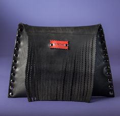 Wristlet Bag // Used Inner tube // Recycled Wristlet Bag // Black Wristlet Bag by ConvertArt on Etsy