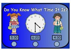 Do You Know What Time It Is?Telling Time to the Hour and Half HourThis SmartBoard lesson will teach the First Grade Common Core Standard:  Te...