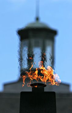 The Eternal Flame blazes on campus to commemorate FAMU being named the 1997 Times-Princeton Review College of the Year.