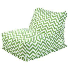 Showcasing a bold chevron motif in sage, this stylish beanbag lounger is perfect for soaking up some rays by the pool or relaxing with an apres-work cocktail...