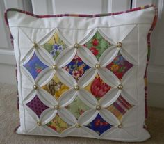 Cathedral Window Pillow  by