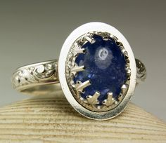 Sterling Silver Tanzanite Ring Natural by TazziesCustomJewelry
