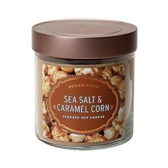 Signature Soy Caramel Container Candle CRM, Ivory (24 QAR) ❤ liked on Polyvore featuring home, home decor, candles & candleholders, filler, food, ivory, almond candle, soy candles, ivory candles and soy wax candles