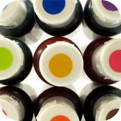 Choose your favourite gel food colouring... I like to use some of each to create a magical rainbow cupcake!