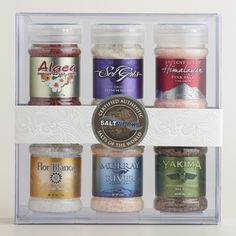 Take a journey around the globe with our SaltWorks Salts Of The World 12 Days Of Xmas, Gourmet Salt, Christmas Gift Sets, Holiday, Work Gifts, Specialty Foods, Turquoise Water, World Market, 6 Packs