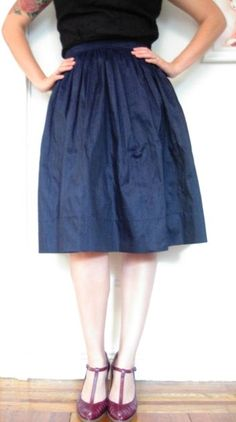 Gathered skirt toturial by Gertie