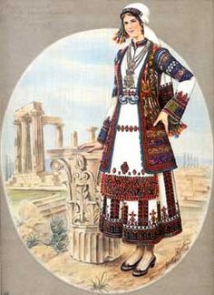 Greek Traditional Dress, Traditional Outfits, Greek Dancing, Greek Dress, Contemporary Decorative Art, Greek Royalty, Islamic Paintings, Greek Art, Greek Clothing