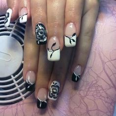 black and white - nail designs 2013