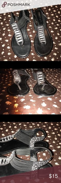 Dressy Sandals Super cute sandals. Worn twice. One small scuff to the toe. Great condition. Madden Girl Shoes Sandals