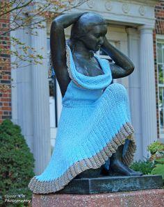 campus of Wichita State University. Yarn bombing