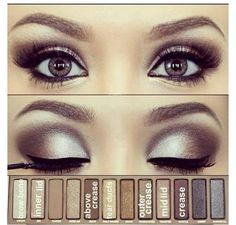 Smoky eye shadow