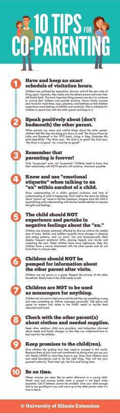 10 Tips for Co-Parenting - Divorce is always an tricky transition time for kids, but these tips can help make the process more comfortable for them. #ParentingDivorce