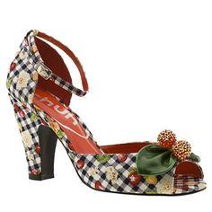 Women's Navy & White Schuh Cherry Pie Ankle Strap Peep at Schuh