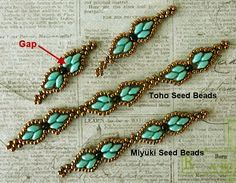 seed bead necklace patterns for beginners Seed Bead Bracelets Tutorials, Beaded Bracelets Tutorial, Beading Tutorials, Beading Patterns, Beaded Necklace Patterns, Beaded Earrings, Seed Bead Jewelry, Seed Beads, Beading Jewelry