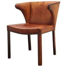 Frits Henningsen Easy Chair, Denmark, 1934 | From a unique collection of antique and modern chairs at https://www.1stdibs.com/furniture/seating/chairs/